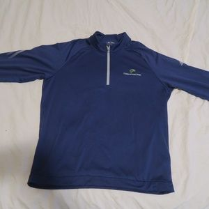Adidas Cobblestone Park Golf 3-Stripe Zip Pullover